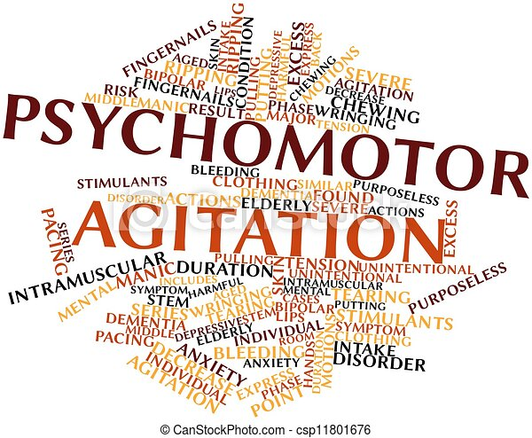 Stock Illustrations Of Psychomotor Agitation Abstract Word Cloud For Psychomotor