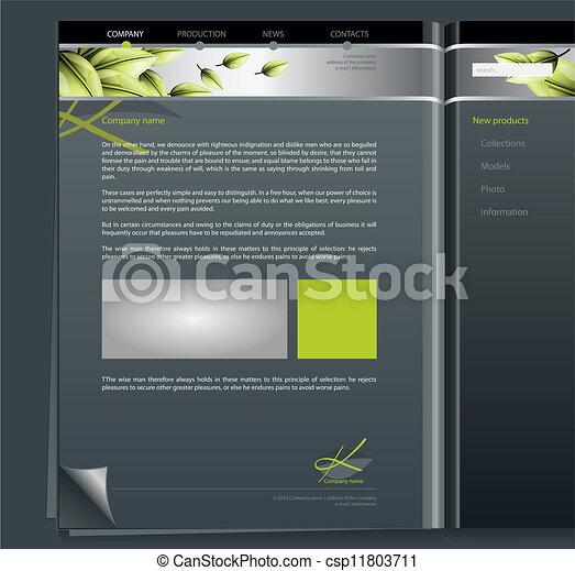 vector clip art of eco site eco site csp11803711