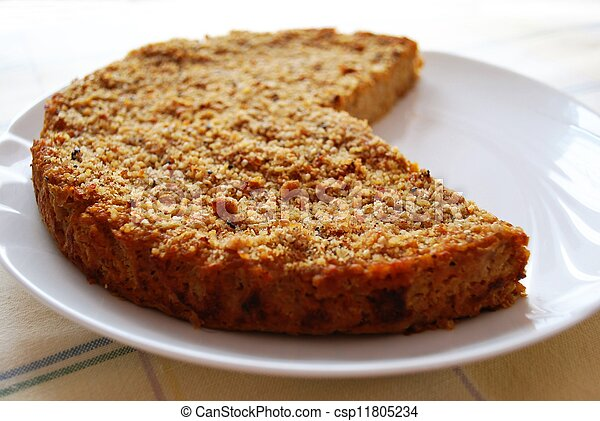 Millet and pumpkin pie - csp11805234