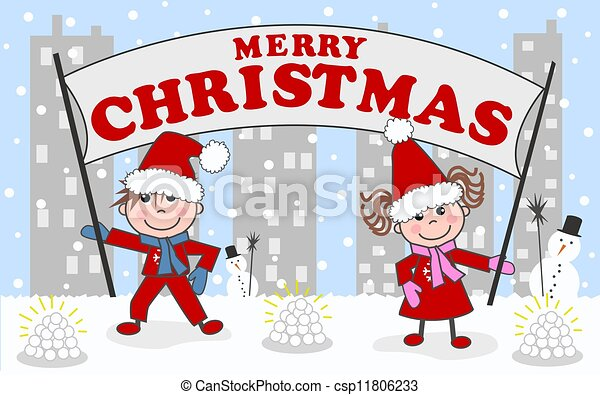 merry christmas happy holidays - csp11806233