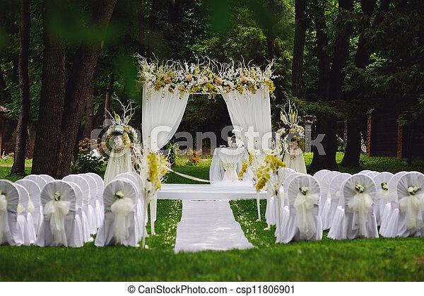 Photographies de c r monie jardin mariage mariage - Mariage dans un jardin decoration ...