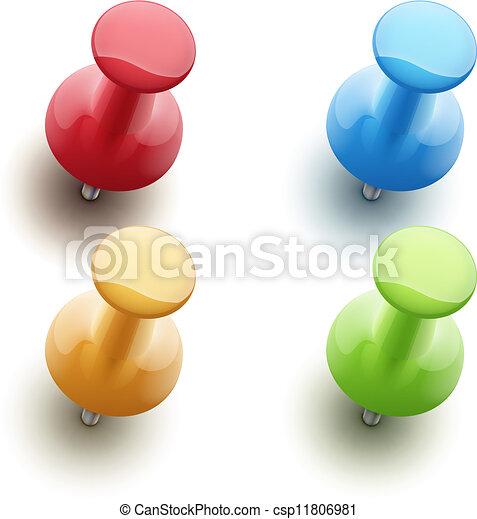 push pins - csp11806981