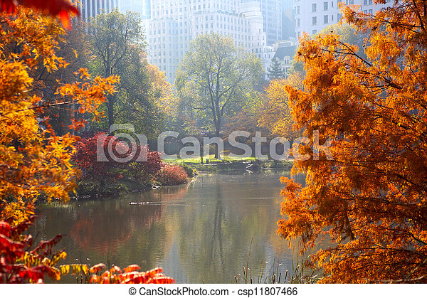 Autumn in Central Park - csp11807466