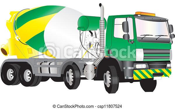 Vector Clipart of Concrete truck. csp5593640 - Search Clip Art ...