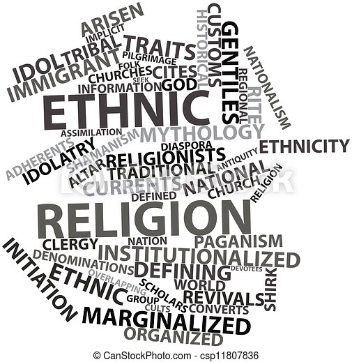 Word cloud for Ethnic religion - csp11807836