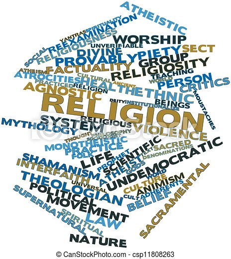 Word cloud for Religion - csp11808263