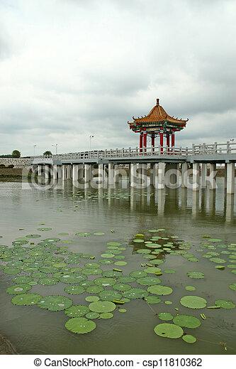artificial lake scene