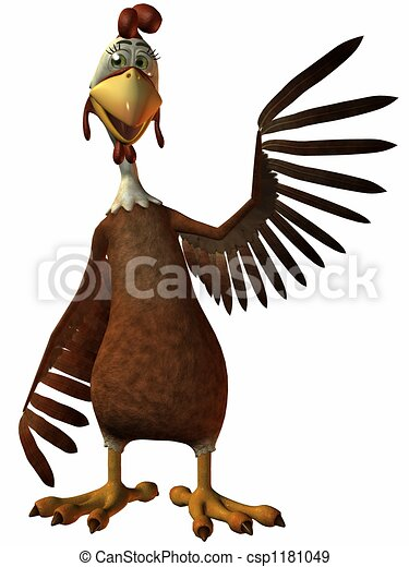 Toon Chicken - csp1181049