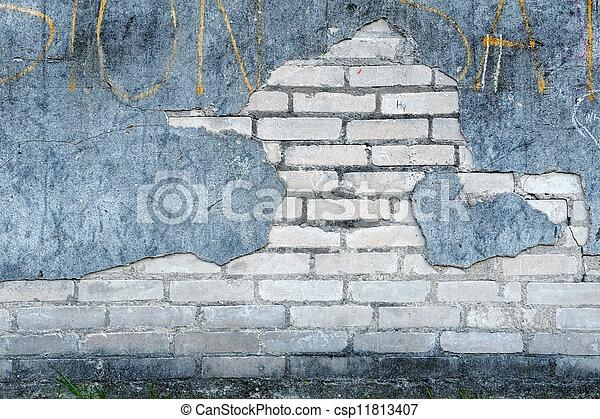 stock fotografie von wand, ziegelsteine, pflaster, altes , rissig, Gartenarbeit ideen