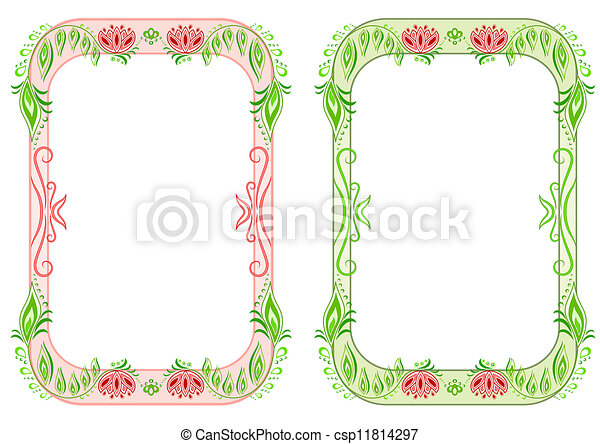 Vertical Oval Frame Clipart EPS Vectors of Two ova...