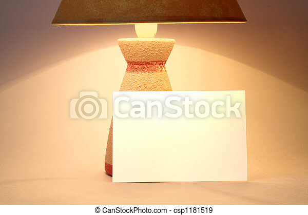 Nameboard and lamp - csp1181519