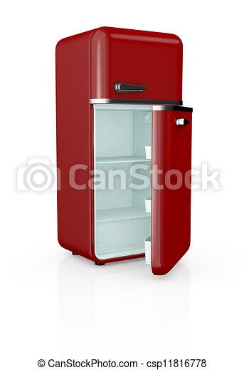 illustrations de vendange r frig rateur devant vue de a rouges csp11816778. Black Bedroom Furniture Sets. Home Design Ideas