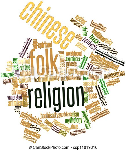 Word cloud for Chinese folk religion - csp11819816