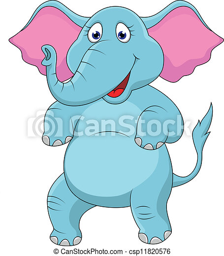 Happy elephant cartoon - csp11820576
