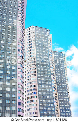 high-rise residential buildings in Moscow - csp11821126