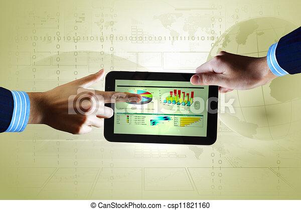 Modern computer technology in business - csp11821160