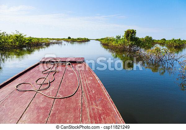 Traveling through Tonle Sap Lake - csp11821249