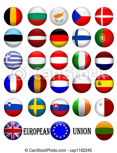 European Union Flags - csp1182245
