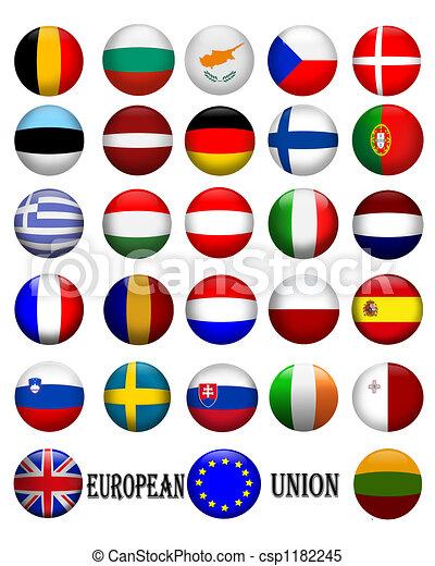 European Union Flags - csp1182245