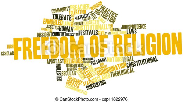 Word cloud for Freedom of religion - csp11822976