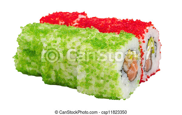 how to make flying fish roe sushi