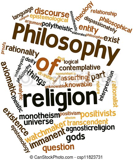 Word cloud for Philosophy of religion - csp11823731