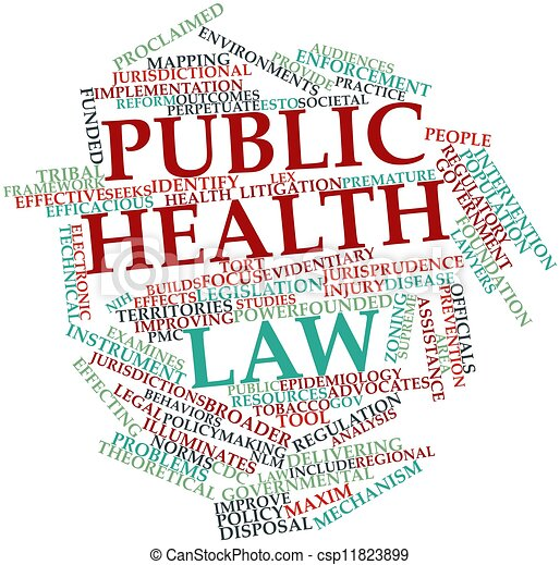 Word cloud for Public health law - csp11823899
