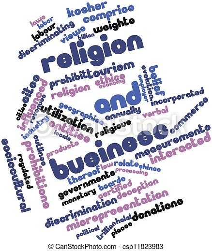 Word cloud for Religion and business - csp11823983