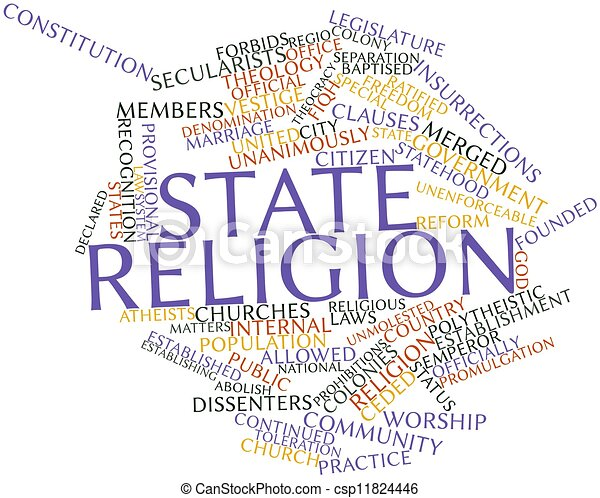 Word cloud for State religion - csp11824446