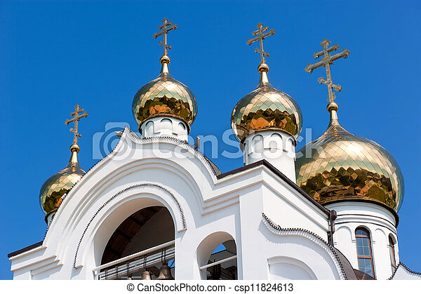 white orthodox church - csp11824613