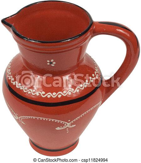 Antique Red jug  - csp11824994