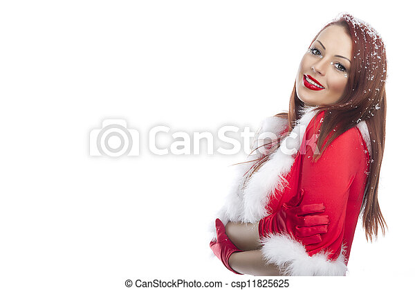 Young and sexy woman in Christmas style - csp11825625