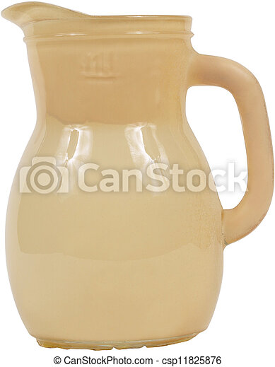 Yellow Antique Pottery jug  - csp11825876