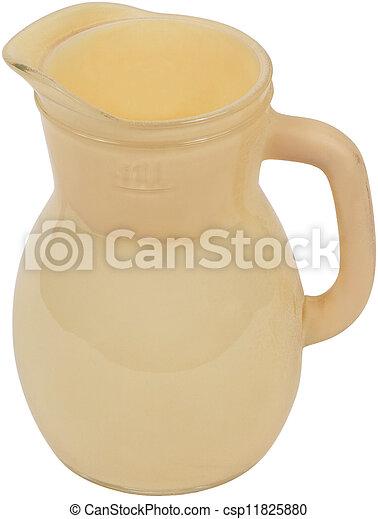 Yellow Antique Pottery jug - csp11825880