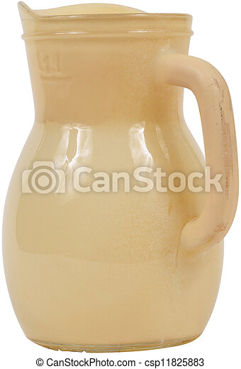Yellow Antique Pottery jug - csp11825883