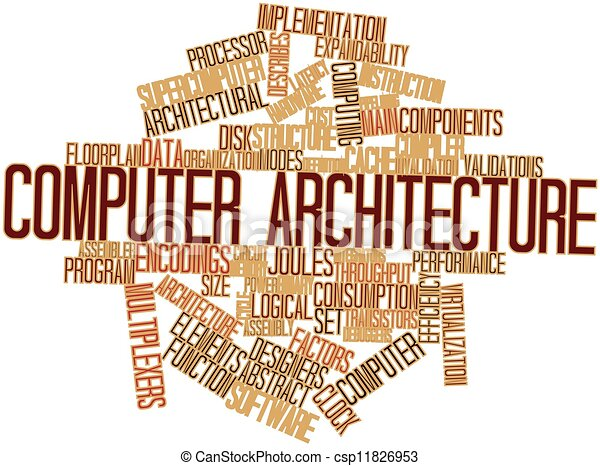 stock illustrations of computer architecture - abstract word cloud