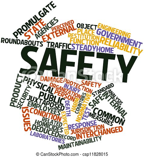 Clipart of Safety - Abstract word cloud for Safety with related ...