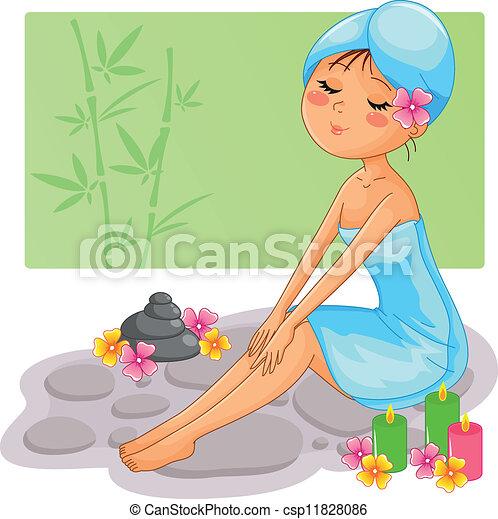 spa girl - csp11828086