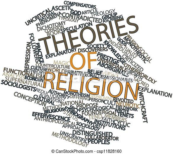 Word cloud for Theories of religion - csp11828160