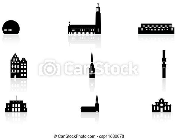 Landmark icons - Stockholm - csp11830078