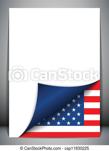 USA Country Flag Turning Page - csp11830225