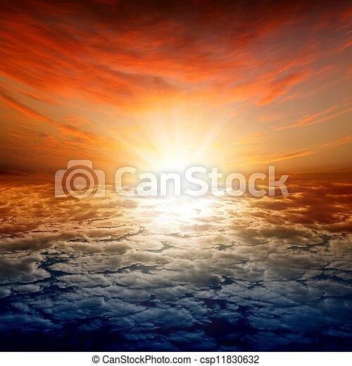 Beautiful sunset - csp11830632
