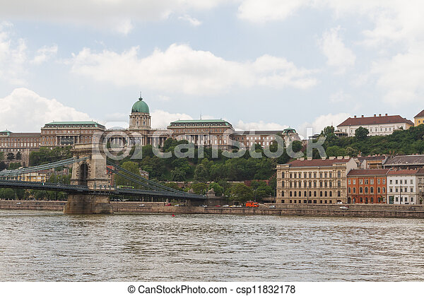 view of landmarks in Budapest - csp11832178