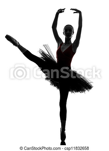 young woman ballerina ballet dancer dancing - csp11832658