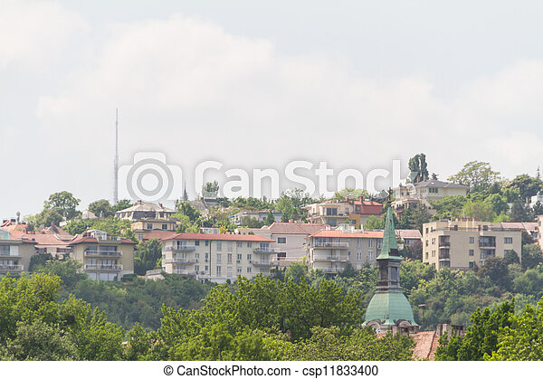 view of landmarks in Budapest - csp11833400