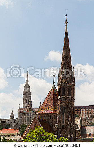 view of landmarks in Budapest - csp11833401