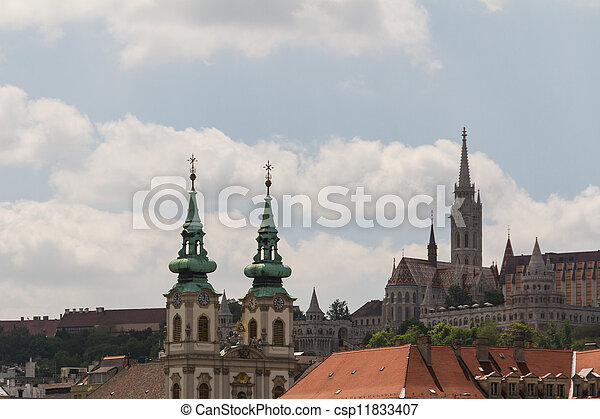 view of landmarks in Budapest - csp11833407