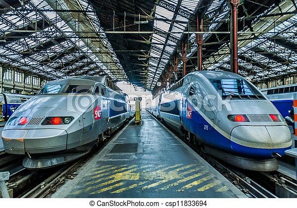 TGV high speed french train - csp11833694
