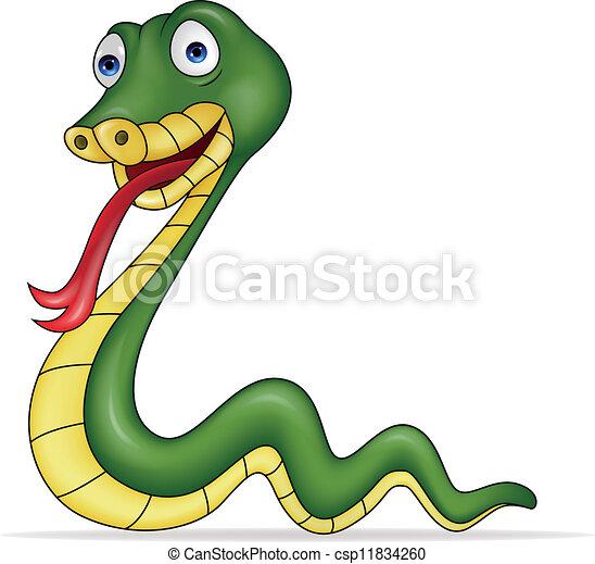 Clipart vettoriali di serpente cartone animato vettore - Cartone animato immagini immagini fantasma immagini ...