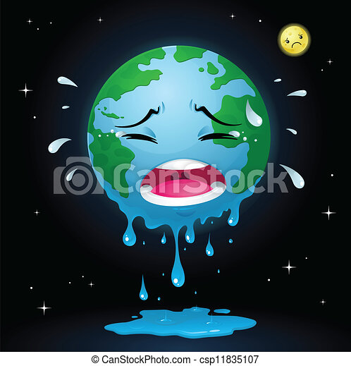 Crying Earth Royalty Free Stock Illustration Csp11835107